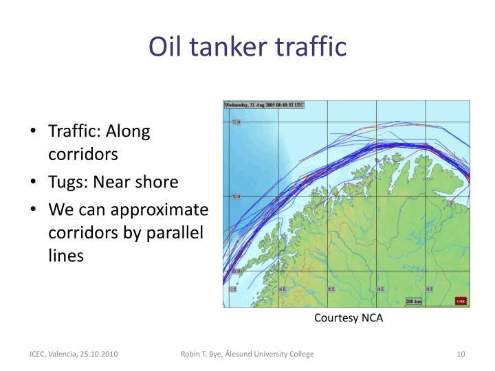 Oil tanker traffic