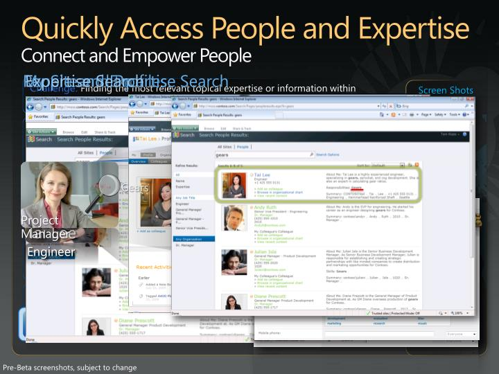 Quickly Access People and Expertise