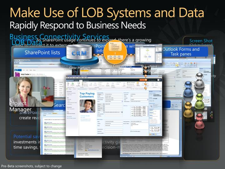 Make Use of LOB Systems and Data