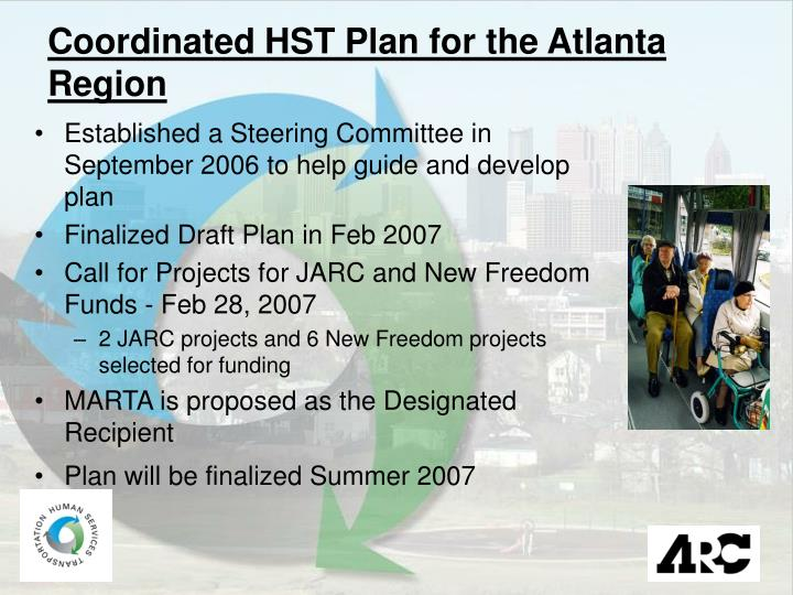 Coordinated HST Plan for the Atlanta Region