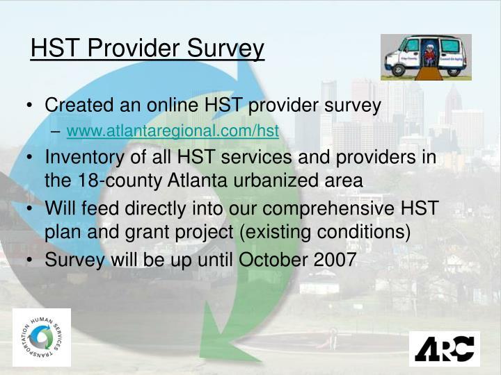 HST Provider Survey