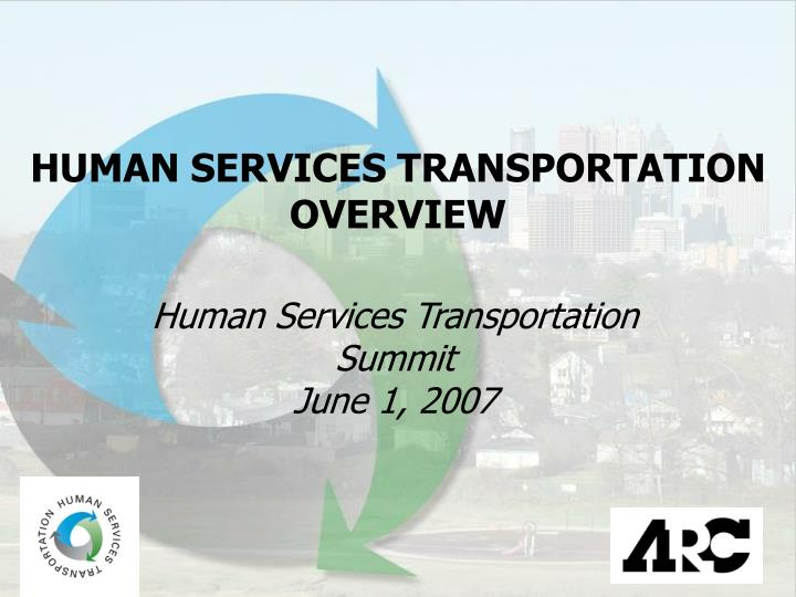 HUMAN SERVICES TRANSPORTATION