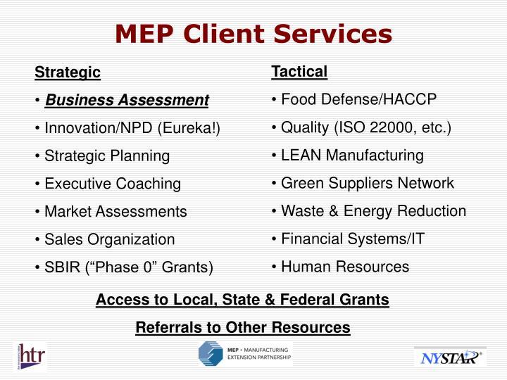 MEP Client Services