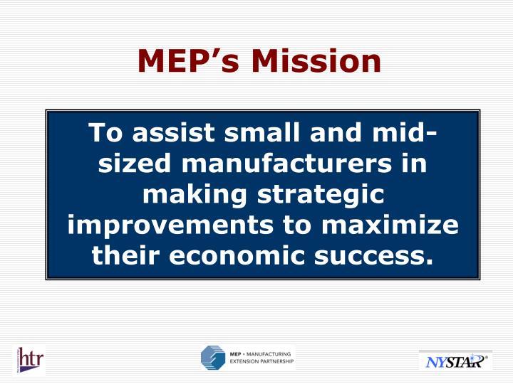 MEP's Mission