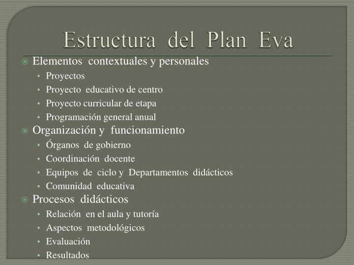 Estructura  del  Plan  Eva
