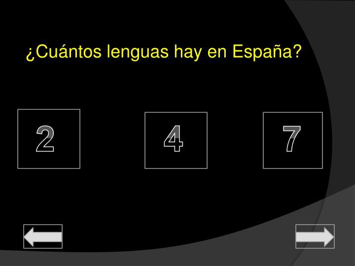 ¿Cuántos lenguas hay en España?