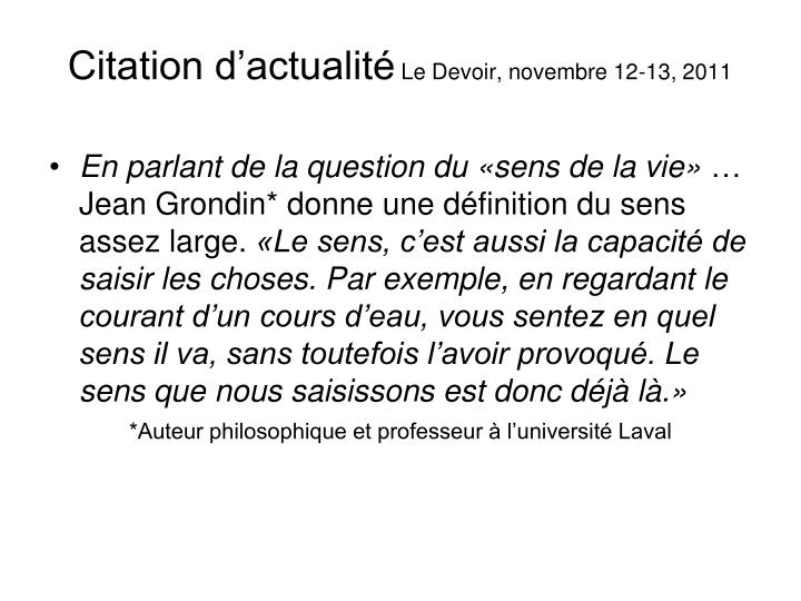 Citation d'actualité