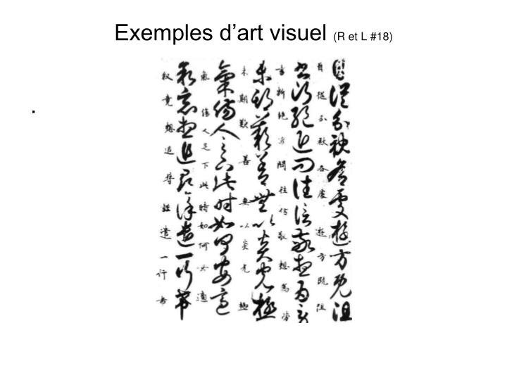 Exemples d'art visuel