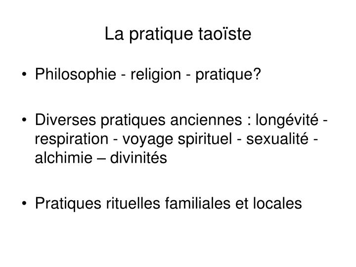 La pratique taoïste