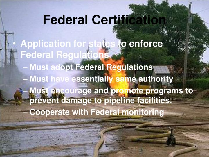 Federal Certification