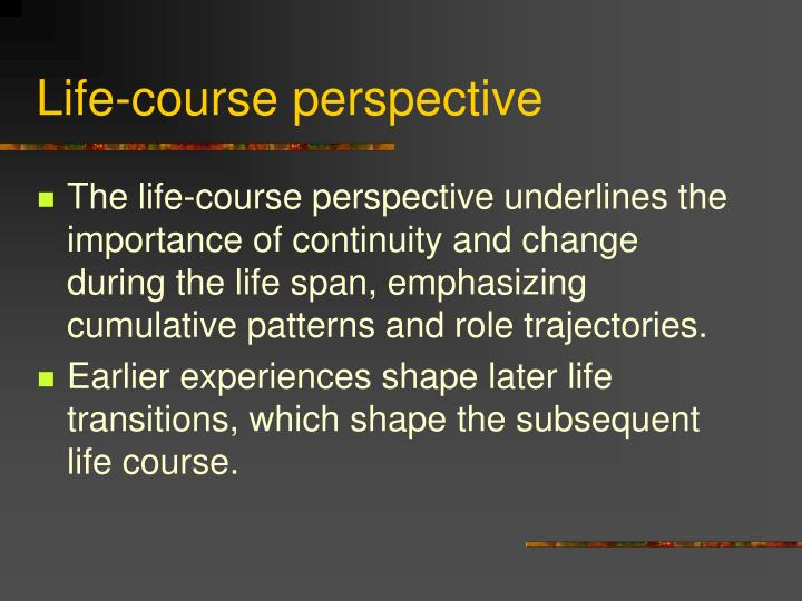 Life-course perspective