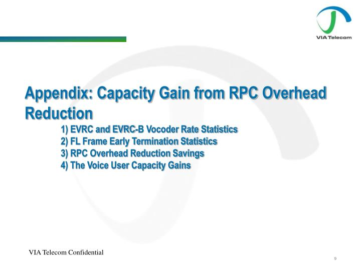 Appendix: Capacity Gain from RPC Overhead Reduction