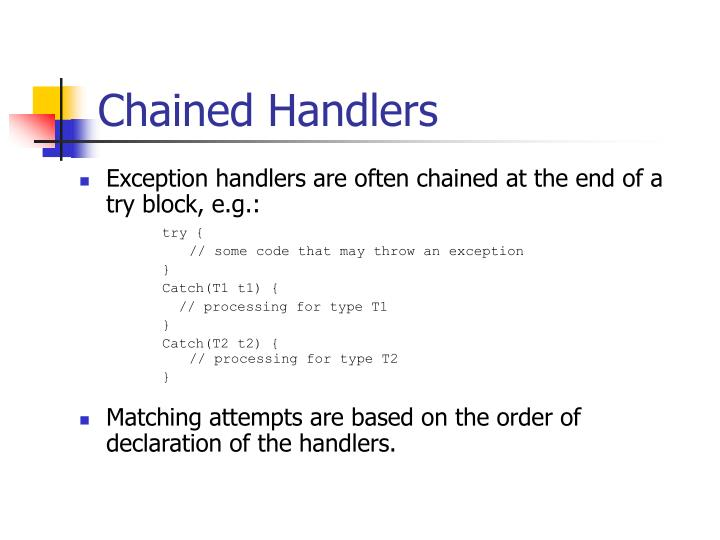 Chained Handlers
