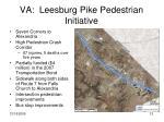 va leesburg pike pedestrian initiative