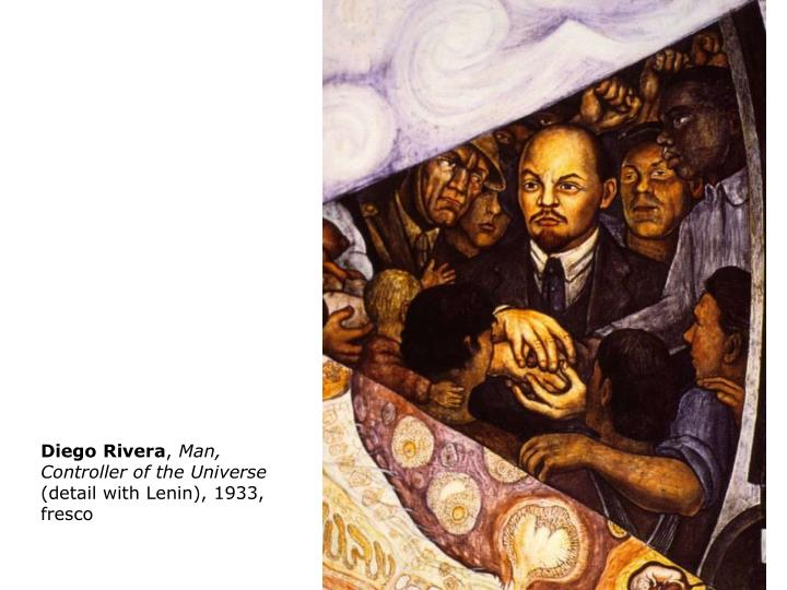 Ppt the mexican mural movement los tres grandes diego for Diego rivera lenin mural