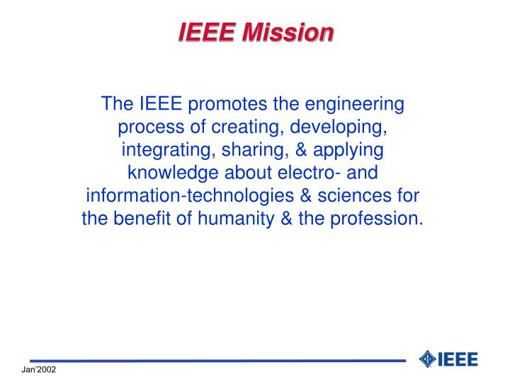 Ieee mission
