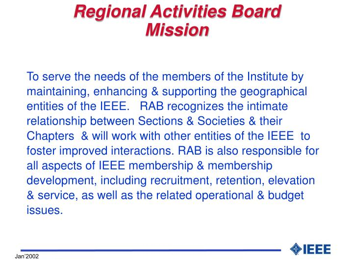 Regional Activities Board