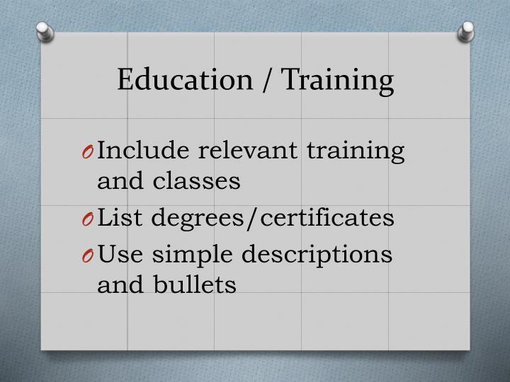 Education / Training