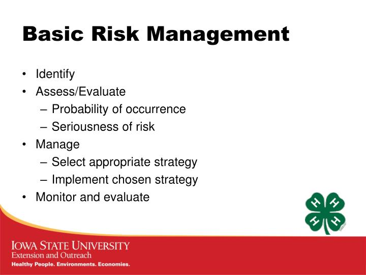 Basic Risk Management