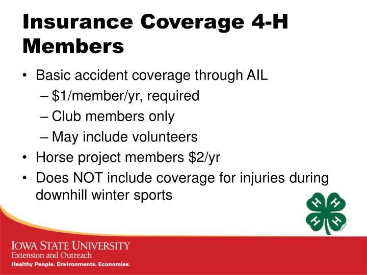 Insurance Coverage 4-H Members