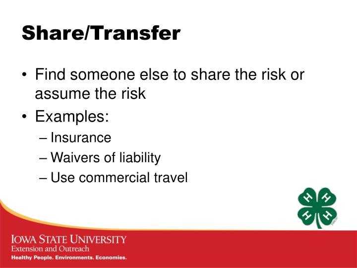 Share/Transfer