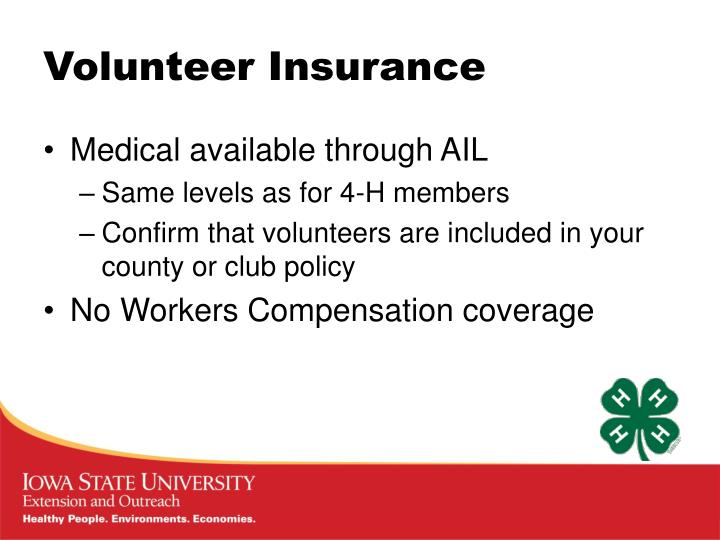 Volunteer Insurance