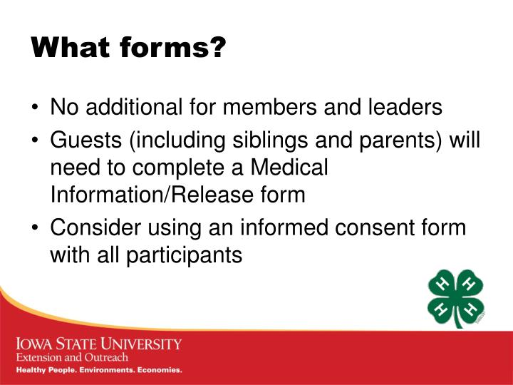 What forms?