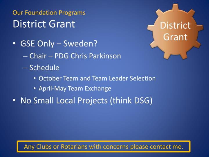 District Grant