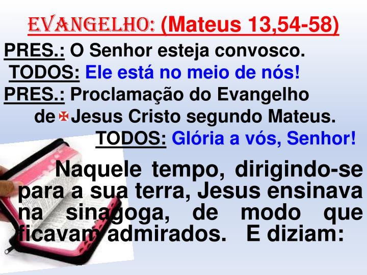 EVANGELHO: