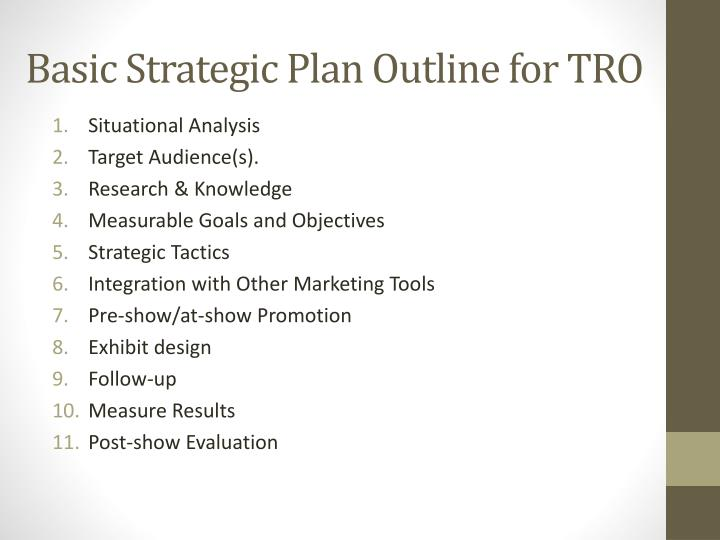 Basic Strategic Plan Outline for TRO