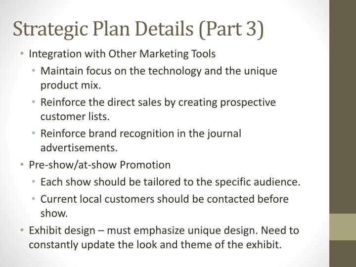Strategic Plan Details (Part 3)