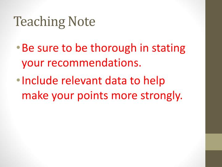 Teaching Note