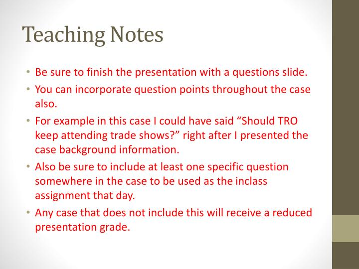 Teaching Notes