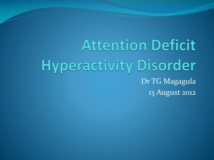 the characteristics of attention deficit hyperactivity disorder and over prescription of ritalin as