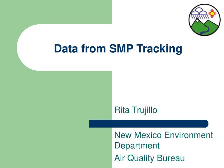 Data from SMP Tracking