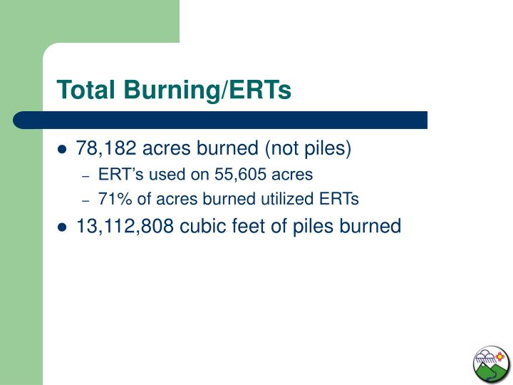 Total Burning/ERTs