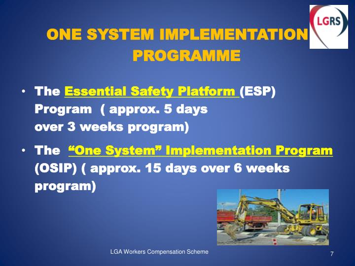 ONE SYSTEM IMPLEMENTATION