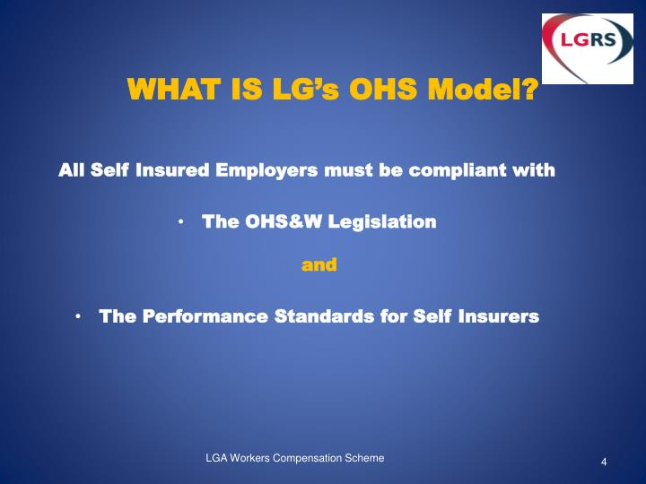 WHAT IS LG's OHS Model?