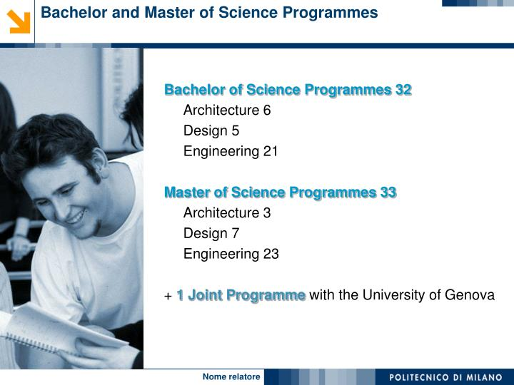 Bachelor and Master of Science Programmes
