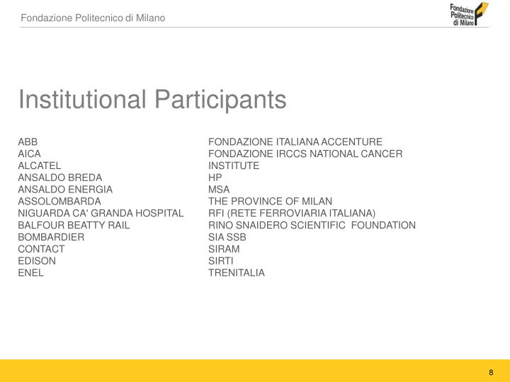 Institutional Participants