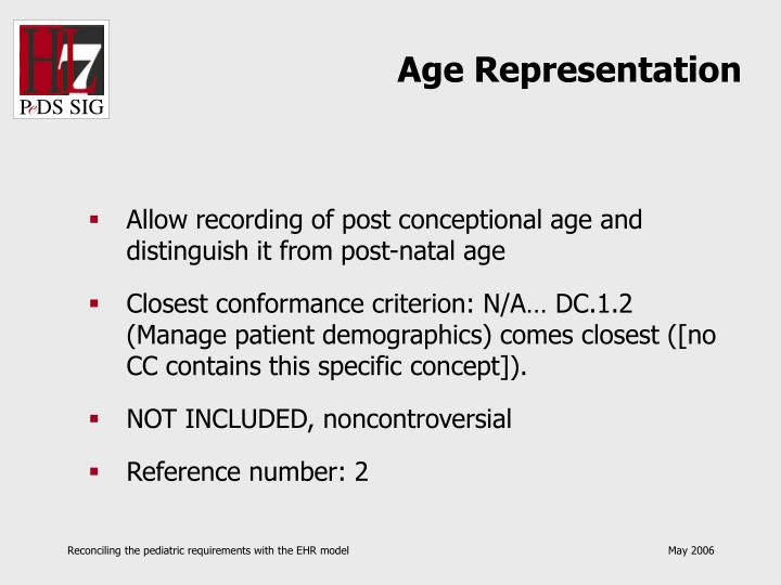 Age Representation