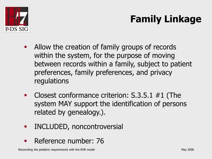Family Linkage