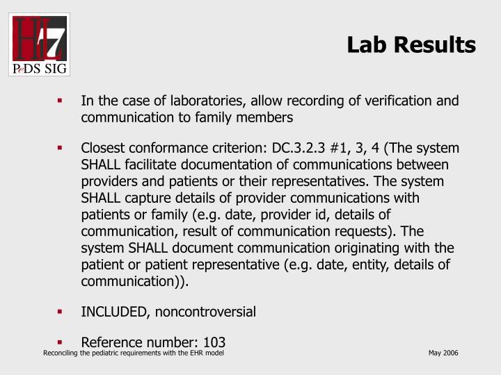 Lab Results
