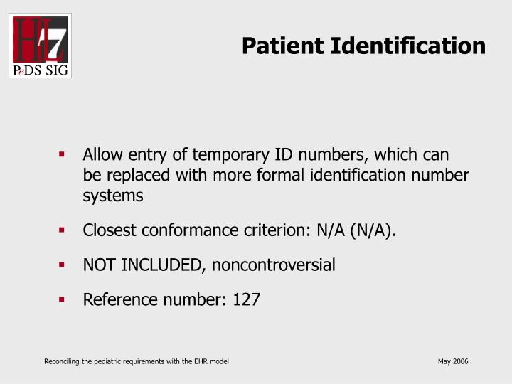 Patient Identification