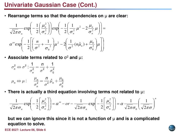 Univariate Gaussian Case (Cont.)