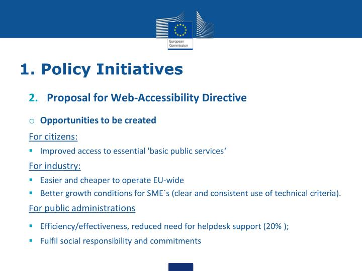1. Policy Initiatives