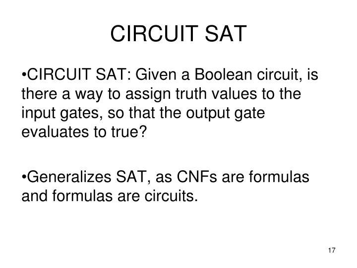 CIRCUIT SAT