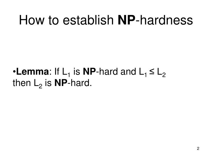 How to establish np hardness