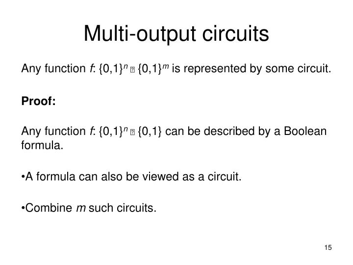 Multi-output circuits