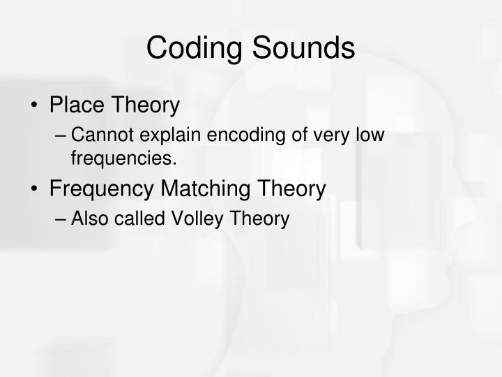 Coding Sounds